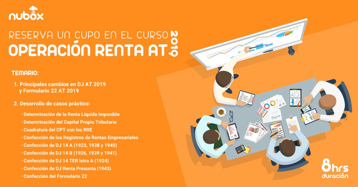Curso: Operación Renta AT 2019